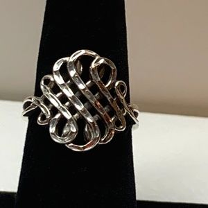 CHIC SOLID STERLING CELTIC FILIGREE RING SZ 8 🎁